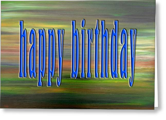 Celebration Art Print Greeting Cards - Happy Birthday 76 Greeting Card by Patrick J Murphy