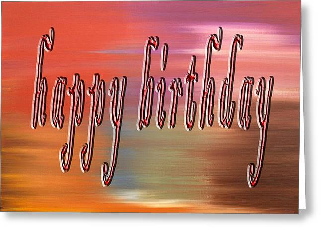 Celebration Art Print Greeting Cards - Happy Birthday 77 Greeting Card by Patrick J Murphy