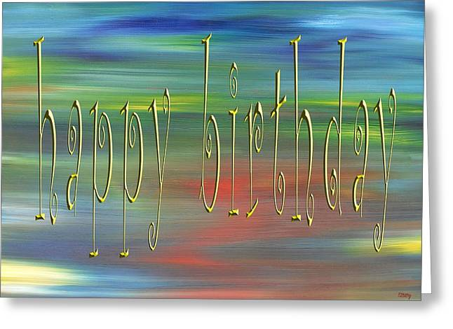 Celebration Art Print Greeting Cards - Happy Birthday 79 Greeting Card by Patrick J Murphy