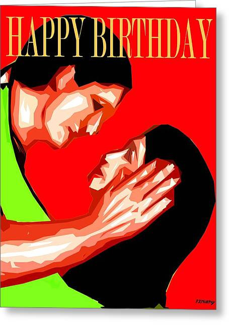 Celebration Art Print Greeting Cards - Happy Birthday 8 Greeting Card by Patrick J Murphy