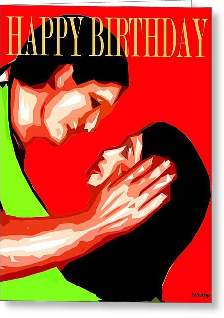 Celebration Art Print Greeting Cards - Happy Birthday 8 Greeting Card by Patrick J Murphy