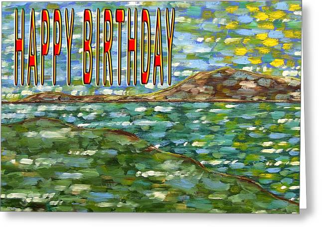 Celebration Art Print Greeting Cards - Happy Birthday 81 Greeting Card by Patrick J Murphy