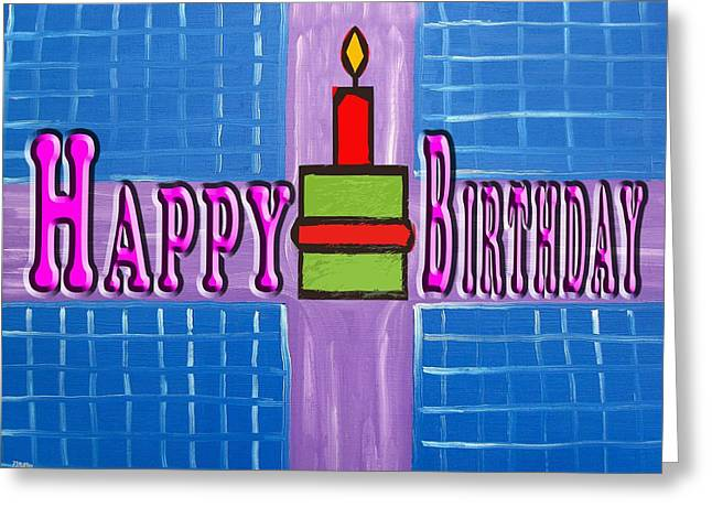 Celebration Art Print Greeting Cards - Happy Birthday 83 Greeting Card by Patrick J Murphy