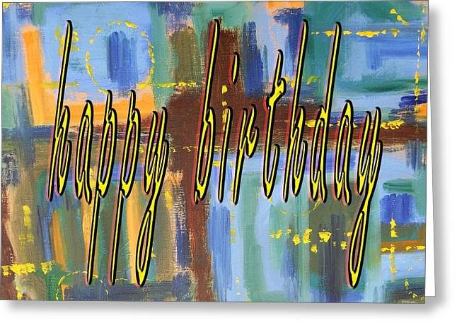 Celebration Art Print Greeting Cards - Happy Birthday 86 Greeting Card by Patrick J Murphy