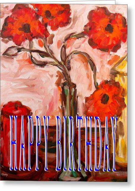 Celebration Art Print Greeting Cards - Happy Birthday 90 Greeting Card by Patrick J Murphy