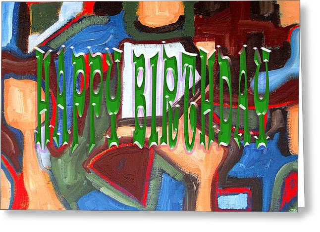 Celebration Art Print Greeting Cards - Happy Birthday 92 Greeting Card by Patrick J Murphy