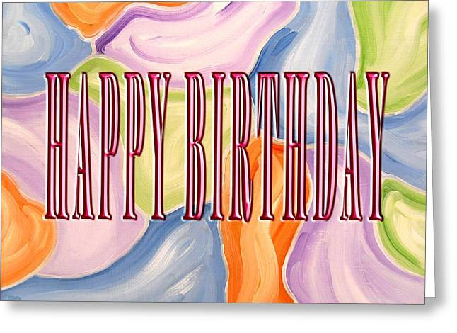 Celebration Art Print Greeting Cards - Happy Birthday 96 Greeting Card by Patrick J Murphy