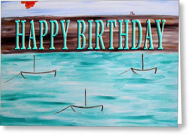 Celebration Art Print Greeting Cards - Happy Birthday 97 Greeting Card by Patrick J Murphy