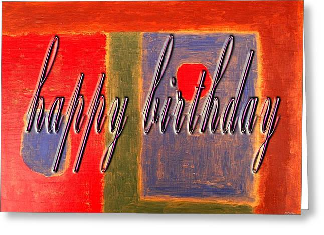 Celebration Art Print Greeting Cards - Happy Birthday 99 Greeting Card by Patrick J Murphy
