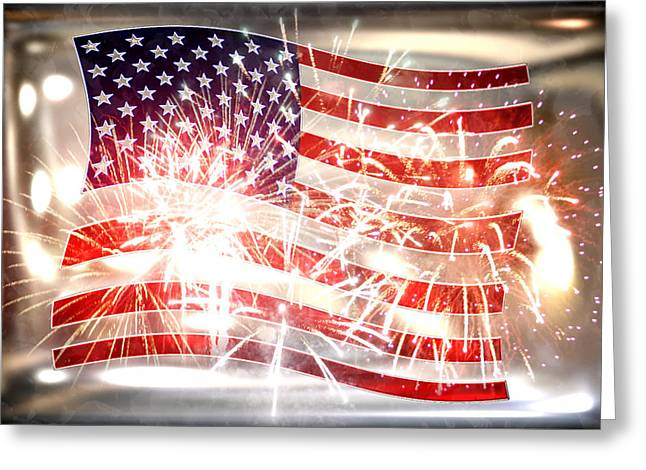 Li Van Saathoff Greeting Cards - Happy Birthday America Greeting Card by Li   van Saathoff