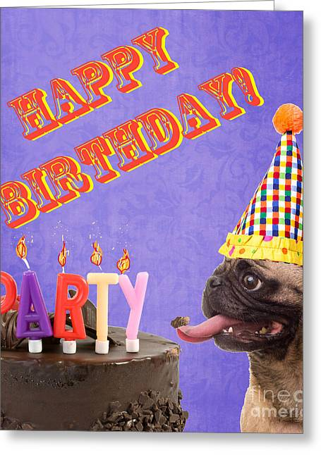 Silly Greeting Cards - Happy Birthday Card Greeting Card by Edward Fielding