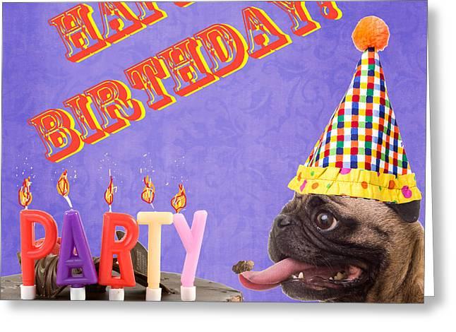 Happy Birthday Card Greeting Card by Edward Fielding