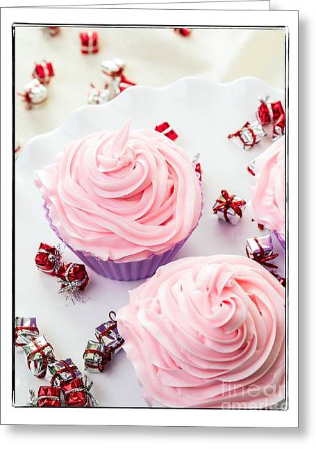 Happy Birthday Cupcakes Greeting Card by Edward Fielding