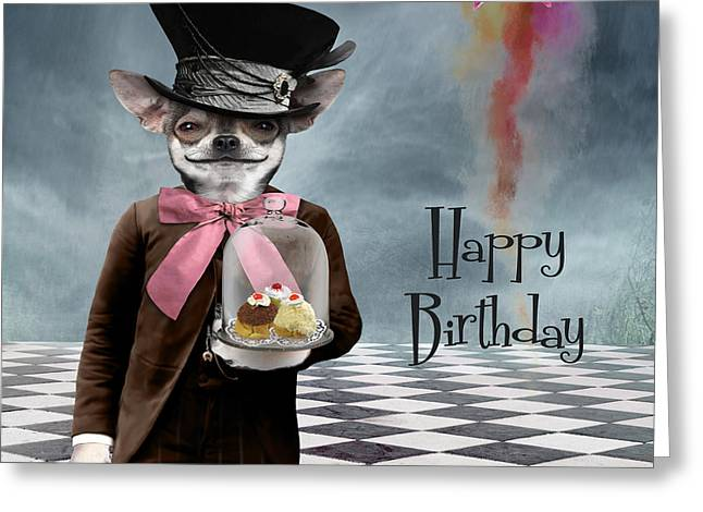 Square Format Greeting Cards - Happy Birthday Greeting Card by Juli Scalzi