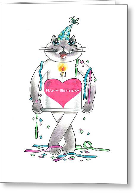 Occasion Pastels Greeting Cards - Happy Birthday Greeting Card by Louise McClain Reeves