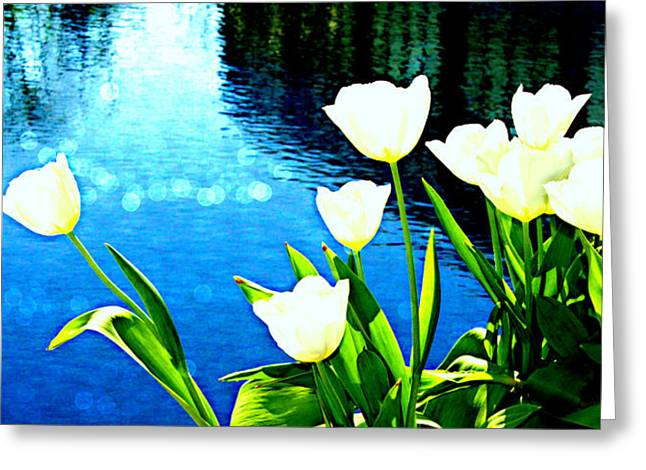 Rectangles Greeting Cards - Happy By The Water Greeting Card by Tina Meador