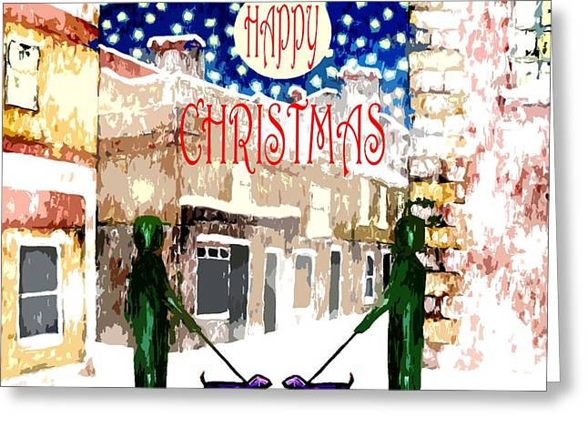 Cute Mixed Media Greeting Cards - Happy Christmas 100 Greeting Card by Patrick J Murphy