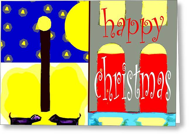 Snow Tree Prints Mixed Media Greeting Cards - Happy Christmas 109 Greeting Card by Patrick J Murphy