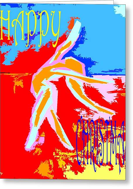 Cute Mixed Media Greeting Cards - Happy Christmas 113 Greeting Card by Patrick J Murphy