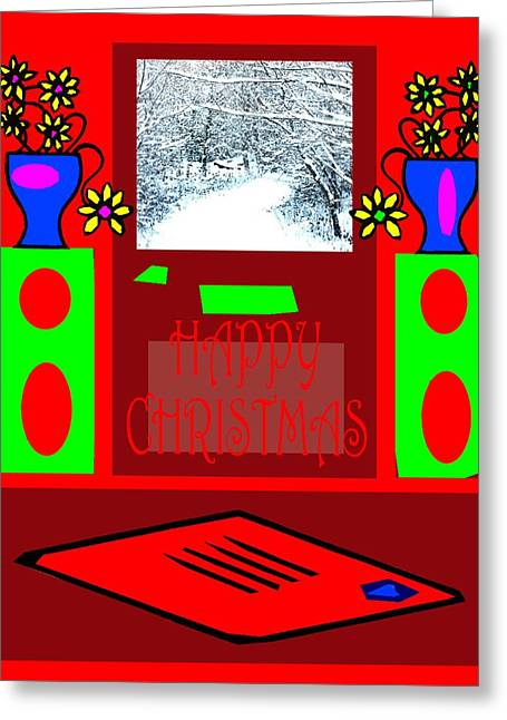 Cute Mixed Media Greeting Cards - Happy Christmas 115 Greeting Card by Patrick J Murphy