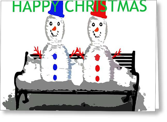 Cute Mixed Media Greeting Cards - Happy Christmas 116 Greeting Card by Patrick J Murphy
