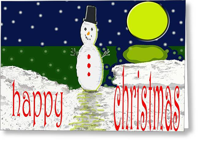 Wishes Mixed Media Greeting Cards - Happy Christmas 124 Greeting Card by Patrick J Murphy