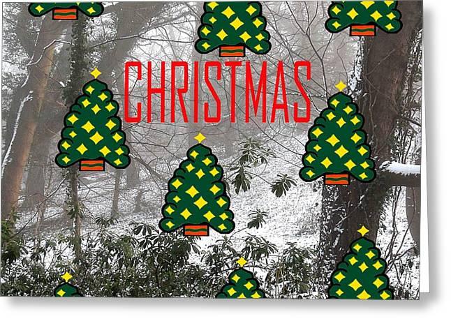 HAPPY CHRISTMAS 22 Greeting Card by Patrick J Murphy