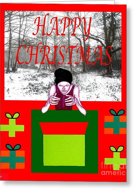 Jesus Mixed Media Greeting Cards - Happy Christmas 33 Greeting Card by Patrick J Murphy