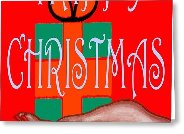 Christmas Art Greeting Cards - Happy Christmas 62 Greeting Card by Patrick J Murphy