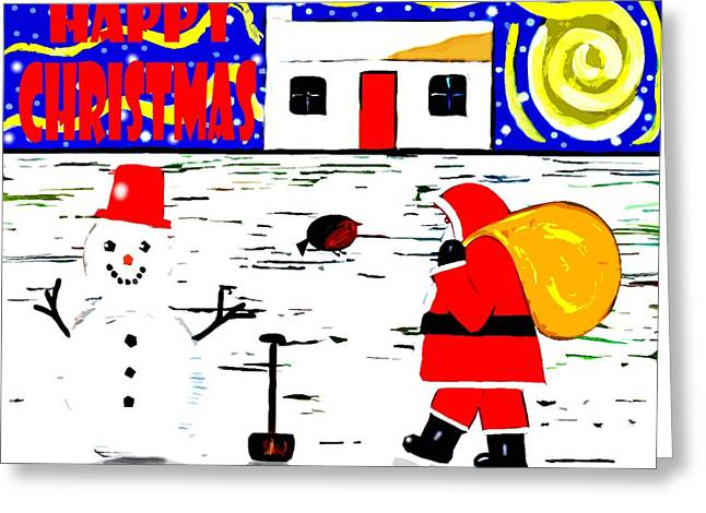 Playing Cards Mixed Media Greeting Cards - Happy Christmas 99 Greeting Card by Patrick J Murphy