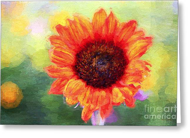 Yellow Sunflower Greeting Cards - Happy Colors Greeting Card by Darren Fisher