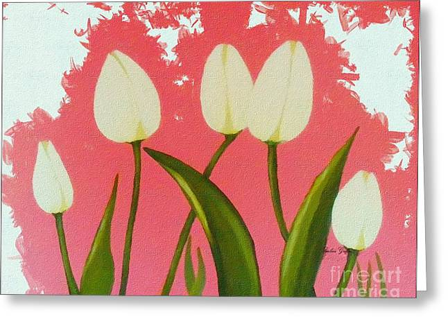 Sunlight On Flowers Digital Greeting Cards - Happy Dance  Greeting Card by Barbara Griffin