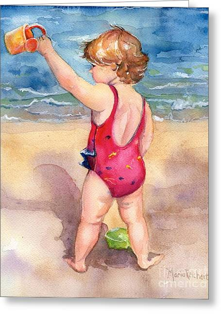 Bathing Suit Greeting Cards - Happy Day Greeting Card by Maria