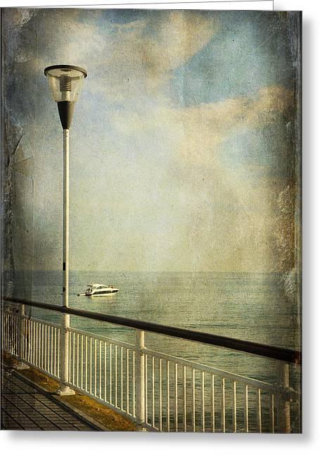 Seaside Digital Art Greeting Cards - Happy Day Greeting Card by Svetlana Sewell