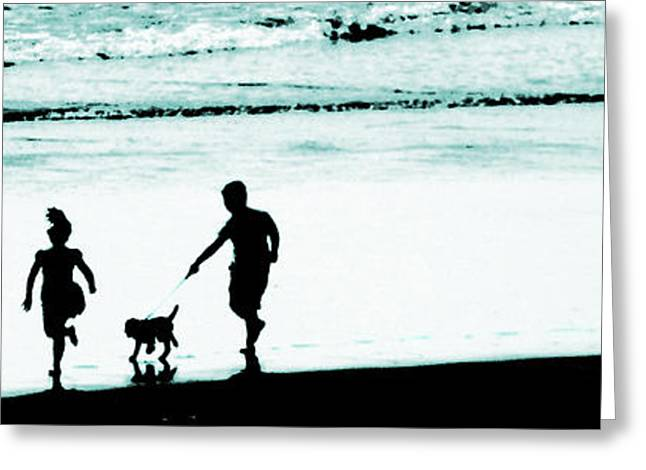 Dogs Digital Art Greeting Cards - Happy Days Greeting Card by Steve Taylor