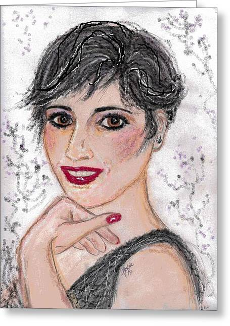 Quality Pastels Greeting Cards - Happy Greeting Card by Desline Vitto