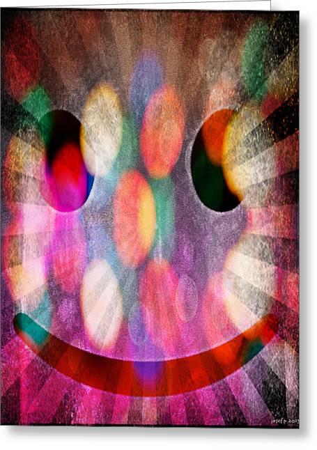 Happy Dimensions Greeting Card by Sir Josef Social Critic - ART