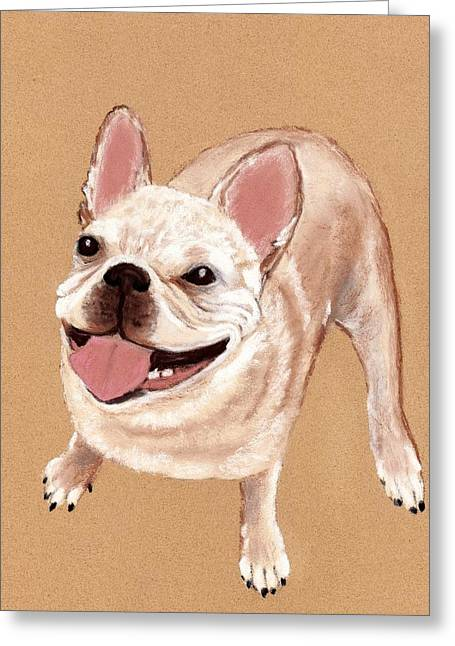 Doggy Pastels Greeting Cards - Happy Dog Greeting Card by Anastasiya Malakhova