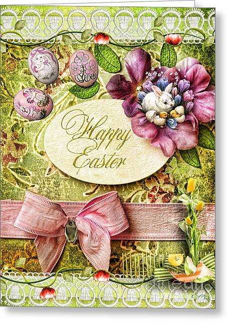 Happy Easter 2 Greeting Card by Mo T