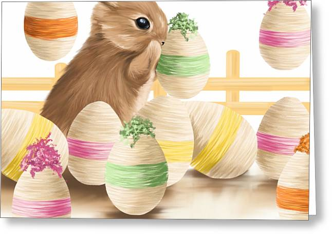 Happy Easter 2013 Greeting Card by Veronica Minozzi