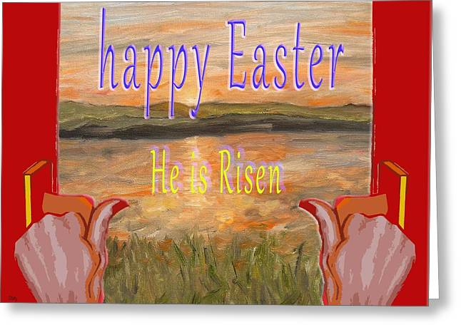 Religious Mixed Media Greeting Cards -  Easter 66 Greeting Card by Patrick J Murphy