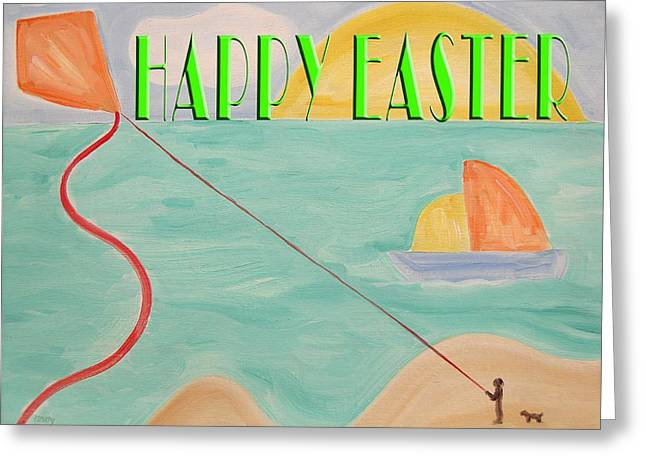 Kites Mixed Media Greeting Cards -  Easter 36 Greeting Card by Patrick J Murphy