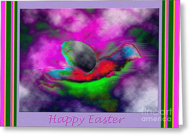 Dantzler Greeting Cards - Happy Easter Abstract Greeting Card by Andrew Govan Dantzler