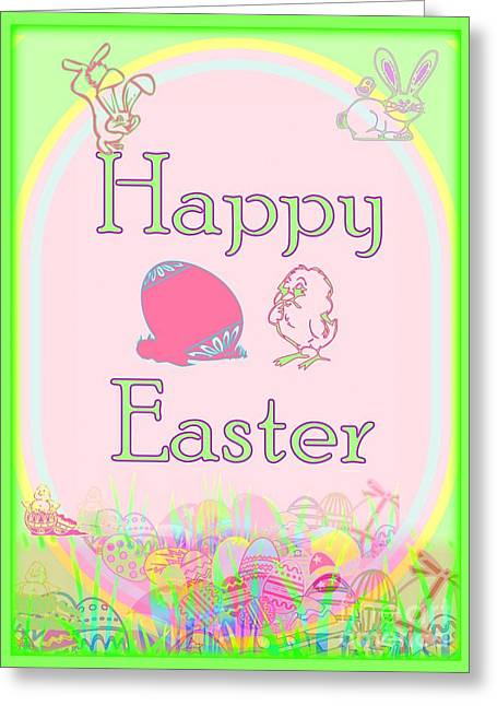 Christ Child Greeting Cards - Happy Easter Greeting Card by Linda Galok