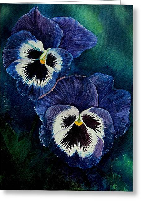 Hand Made Paintings Greeting Cards - Happy Faces Painting Greeting Card by Janet Pancho Gupta