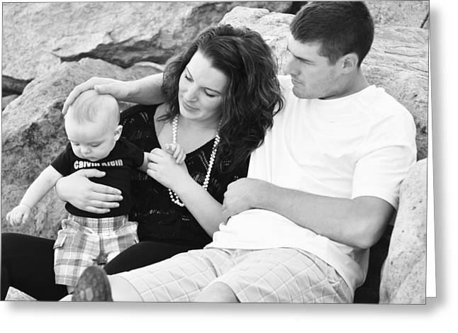 Candid Family Portraits Greeting Cards - Happy Family Greeting Card by Lisa  DiFruscio