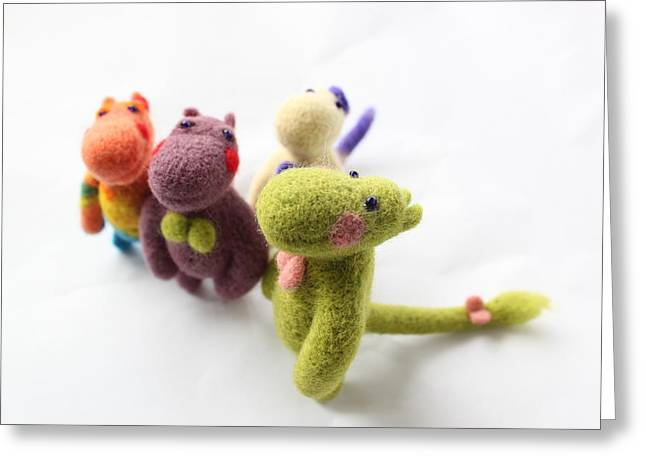 Felting Greeting Cards - Happy family Greeting Card by Vera Dg