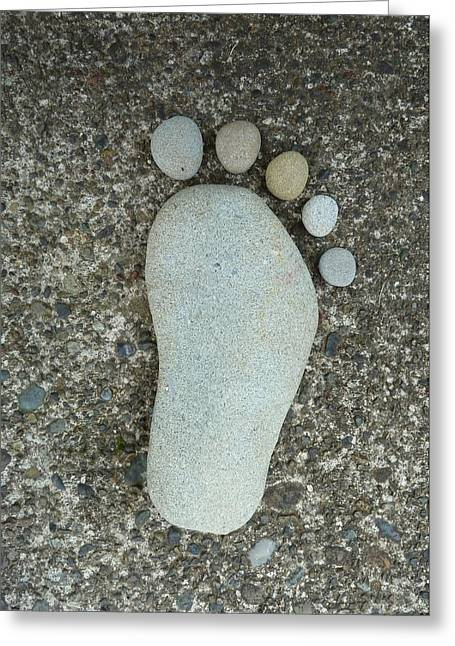 Sculptural Decoration Greeting Cards - Happy Foot Greeting Card by Patricia Strand