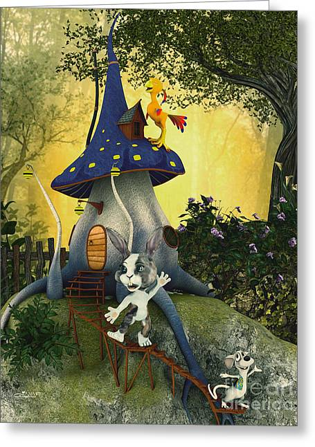 Forest Dweller Greeting Cards - Happy Forest Dwellers Greeting Card by Jutta Maria Pusl
