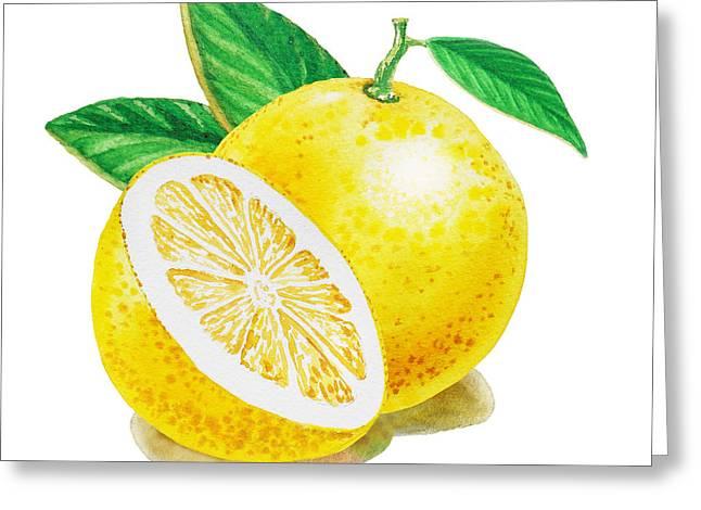 Happy Grapefruit- Irina Sztukowski Greeting Card by Irina Sztukowski